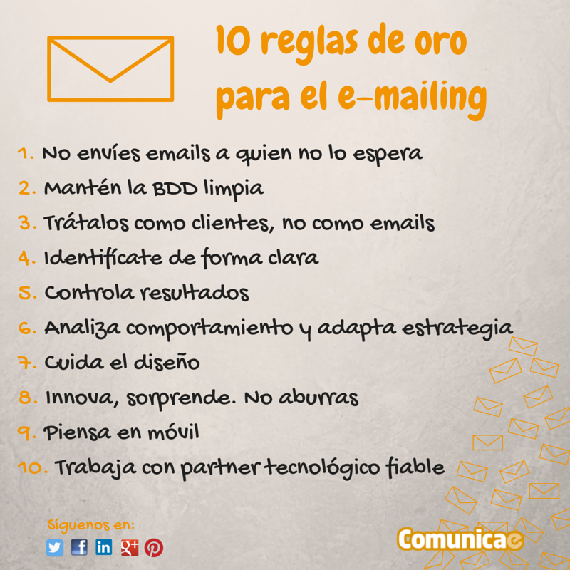 10 reglas de oro para el e-mailing