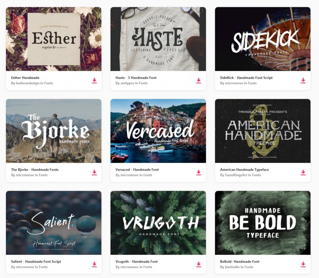 Diseño web ejemplo tipografías