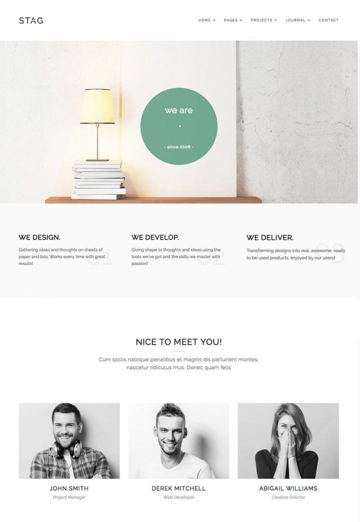 Diseño web ejemplo plantilla minimalista