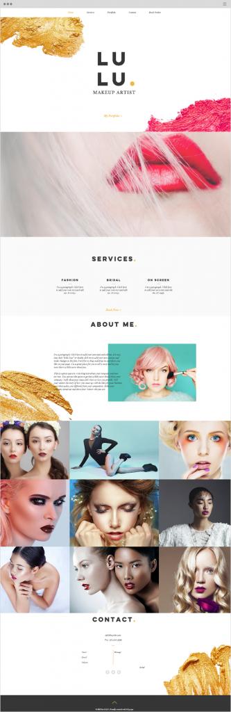 Diseño web ejemplo página única