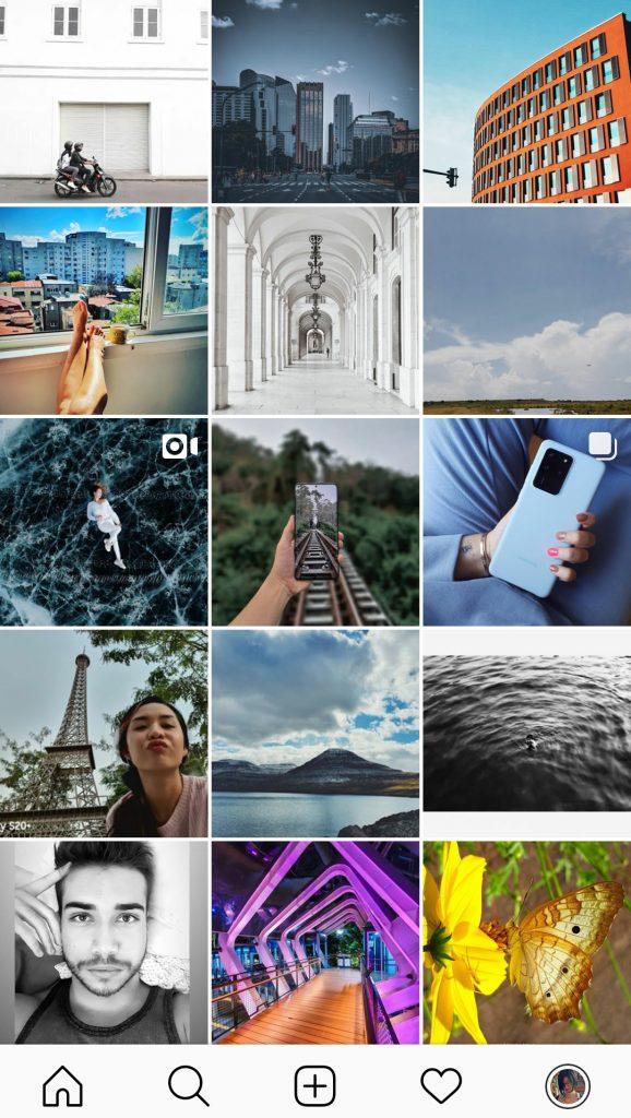 Contenido generado por el usuario en el instagram de Samsung