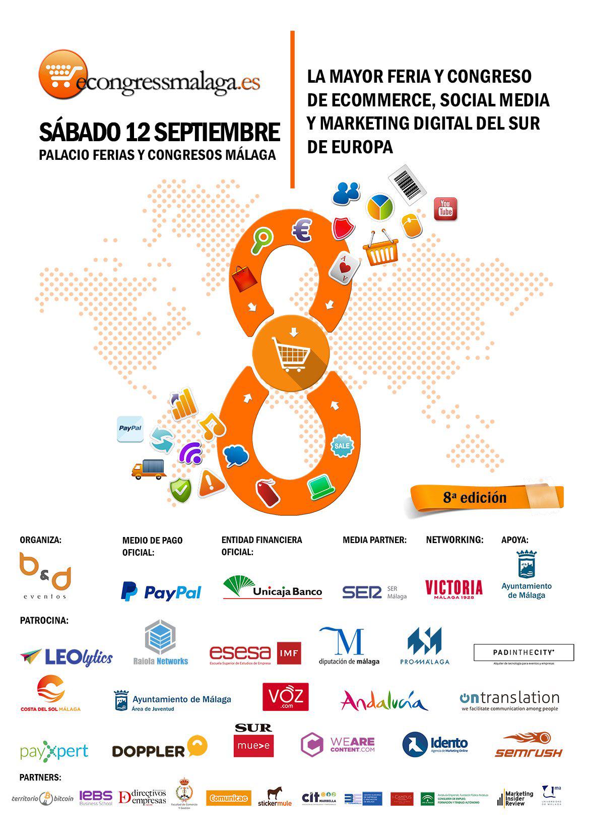 eCongress Málaga, el evento referente para profesionales del ecommerce, social media y marketing, vuelve el 12 de septiembre
