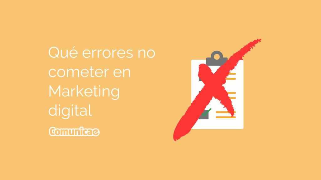 Qué errores no cometer en marketing digital banner