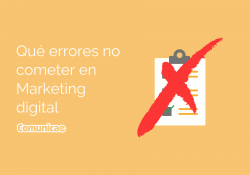 Qué errores no cometer en marketing digital banner