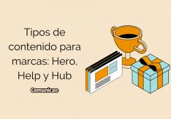 Tipos de contenido para marcas Hero, Help y Hub
