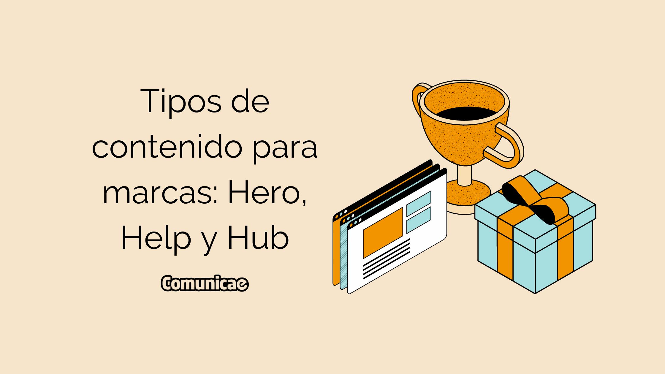 Tipos de contenido para marcas: Hero, Help y Hub