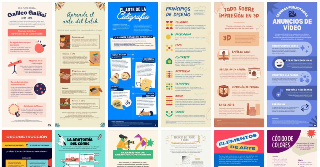 Las infografías de canva son un buen ejemplo de contenido visual